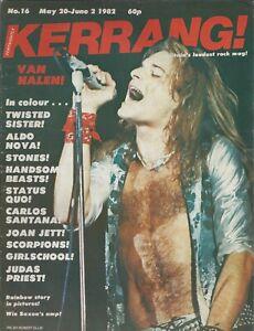 KERRANG! #16 MAY 1982: VAN HALEN Rolling Stones STATUS QUO Rainbow JOAN JETT