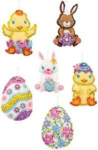 Bucilla Felt Ornaments Applique Kit Set Of 6 Oversized Easter 046109892931