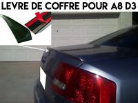 LAME COFFRE SPOILER LEVRE BECQUET AILERON pour AUDI A8 D3 2003-2010 QUATTRO S8