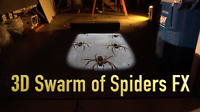 Swarm of Spiders, Halloween Projection Coupon for Files JON HYERS Stan 3D