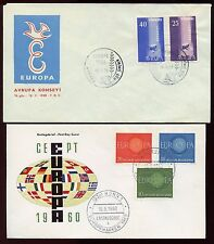 Europa Fdc: 1958 Turkey, 1960 Germany - Cacheted, Unaddressed