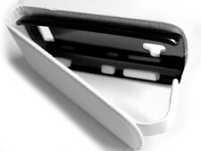 custodia in eco pelle flip case protezione bianca per NOKIA LUMIA 710