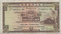 HONGKONG - 5 DOLLARS  - 13.3.1972 - BILLET DE BANQUE // Qualité: TTB