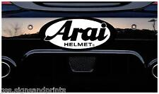 75X35MM ARAI HELMET - DECAL PRINTED STICKER