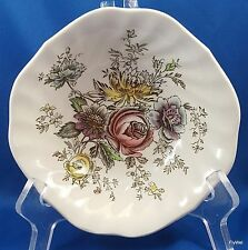 Johnson Brothers Sheraton Cereal Bowl Square Ironstone Multi-Colored Floral