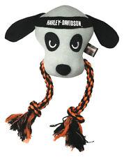 Harley-Davidson Stitched Dog Rope Tug Plush Squeaker Toy - 10 inch H8400P22DOG