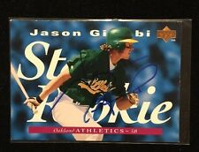 JASON GIAMBI 1995 UPPER DECK ROOKIE RC AUTOGRAPHED SIGNED AUTO BASEBALL CARD 222
