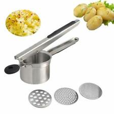 Potato Ricer, Mystery Stainless Steel Potato Masher with 3 Interchangeable Ricin