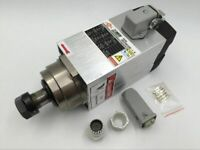 ER20 Air Cooled Square Spindle Motor 1.5KW CNC Woodworking 18000rpm AC 220V