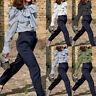 Women Bow Tie Frill Long Sleeve Polka Dot Blouse Tops V-Neck OL Work Plus Shirt