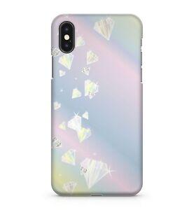 Twinkling Crystal Gemstone Diamonds Pattern Rainbow Galaxy Sky Phone Case Cover