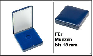 Lindner 2029-018 Blue Plastic coin case With velour insert For To 0 23/32in