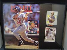 Kirby Puckett plaque 11 x 14 with 2 cards Minnesota Twins