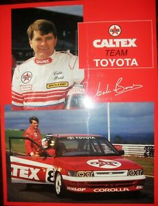 Caltex Racing Team Toyota Corolla Poster Signed by Colin Bond New 640x480mm Lge