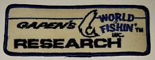 Vintage Mint Fishing Patch - Gapens World of Fishn' Research - 5 1/2 x 2 inch