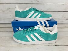 Adidas GAZELLE Mens Casual Sneakers Comfort Low Top Shoes Suede Mint