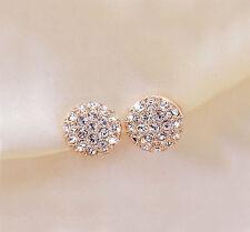 New Fashion Women Lady Elegant circle Crystal Rhinestone Ear Stud Earrings