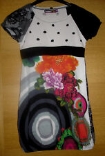 NEUw Desigual Sommer Kleid / Tunika 7/8 122-128 geblümt & bestickt * Festkleid
