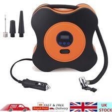 12V Digital Car Tire Inflator Pump Air Compressor 150 PSI + 3 Nozzle Adapters UK