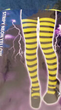 LADIES/MENS YELLOW & BLACK STRIPY TIGHTS CHRISTMAS/HEN/STAG PARTY FANCY DRESS