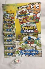 60 Packs Trash Pack 2 The Toilet Splash Trading Cards Plus Trashie Figure