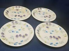 "Vintage Artist & Lunch ""Summer Spendor"" Set/4 Dinner Plates Handpainted"