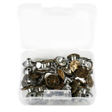 40Pcs Button Jeans Metal Tack Buttons Replacement Kit Repair For Sewing Pants