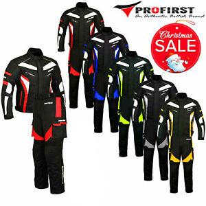 Motorbike Racing Cordura Suit Motorcycle Jacket Trouser Waterproof Suits Armored