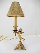 "Vintage Plated Metal ""Girl With Butterfly Wings"" Lamp. Great Piece!"