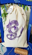 NEW 100% Cotton Stuff-Bag - Hand Printed on both sides - Imperial Dragons