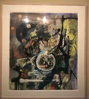 """Willy Heeks Original """"Logic"""" Mixed Media Abstract Painting, 1995"""