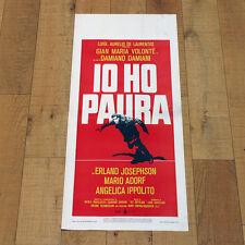 IO HO PAURA locandina poster Gian Maria Volonté Mario Adorf Damiano Damiani AH3