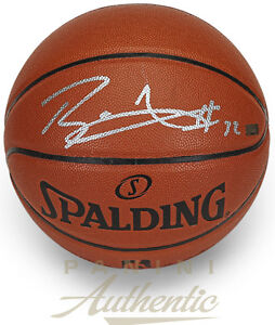 BLAKE GRIFFIN Autographed (In Silver) Spalding Basketball PANINI