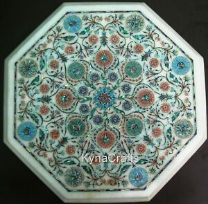 13 Inches Marble Coffee Table Top Mosaic Art Sofa Side Table from Cottage Crafts