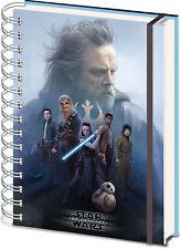 Star Wars The Last Jedi Cast 3d Cover Notizbuch A5 Notebook 15x21cm
