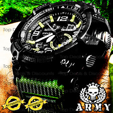 AUTHENTIC SMAEL Sports Watch Digital Led Water Resistant Watches - ARMY MILITARY