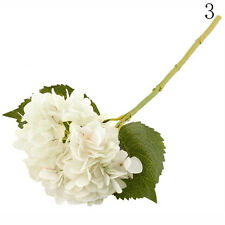 Rose Silk Flowers Artificial Bouquet Hydrangea Wedding Bridal Party Home Decors