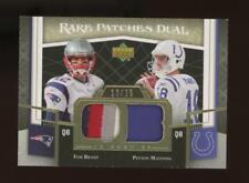 2007 Upper Deck Premier Peyton Manning Tom Brady 13/25 Patch Jersey