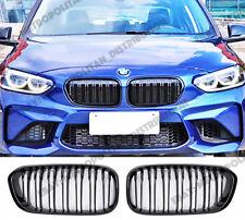 BMW 1 LCI F20/F21 2015+,dual slat,M PERFORMANCE M140i/M2 look grille,Gloss Black