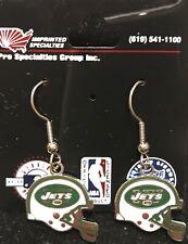 New York Jets Helmet Logo J Hook Dangle  Earrings NEW