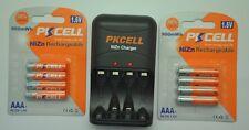 8x AAA 1.6V 900mWh Ni-Zn Rechargeable Battery + NiZn AA/AAA Charger EU Plug