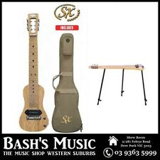 SX ESSEX 6 string Lap Steel Guitar Shaped Solid American Swamp Ash + Bag + Stand