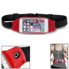 RED SPORTS RUNNING WORKOUT WAIST BAG BELT CASE GYM COVER L0N for SMARTPHONES