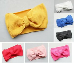 Messy Bow Top Knot Headband for Baby Girl Toddler Newborn Turban Accessories