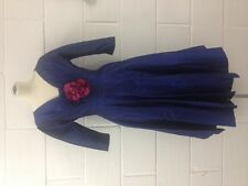1950s Blue Taffeta Silk  Dress size 8-10