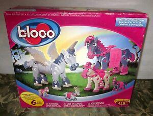 B-LOC-O Horses And Unicorns Foam Blocks Building Pieces Real & Fantasy Toys