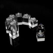 Square Bottom Plexiglass Storage Organizer Ring Display Stand Holder Showcase