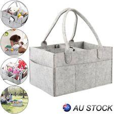 Diaper Caddy Nursery Storage Baby Organizer Basket Nappy Bin Infant Wipes Bag