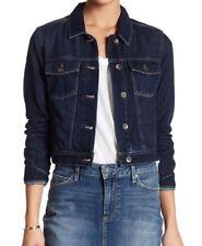 PAIGE ~ Women's 'Vivienne' Cotton Blend Cropped Denim Jacket ~ Size XXS ~ $209