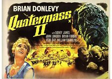 Quatermass 2 - Brian Donlevy - Hammer Horror - A4 Laminated Mini Movie Poster